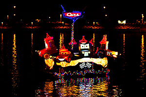 Cars Boat #16 at APS Fantasy of Lights Boat Parade