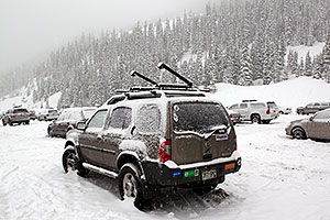 Snow by Loveland Pass