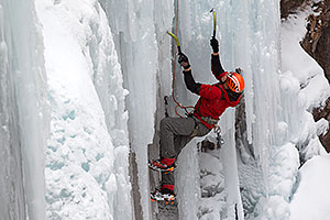 Ice climbing by Ouray