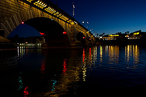 Night at London Bridge in Lake Havasu City