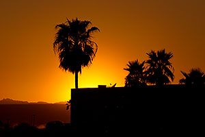 Sunset near London Bridge in Lake Havasu City