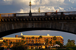 Evening at London Bridge in Lake Havasu City