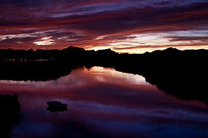 After sunset at Bill Williams River near Lake Havasu City