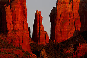 Evening light on Cathedral Rock in Sedona