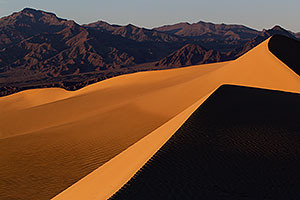 Sand Patterns at Mesquite Sand Dunes in Death Valley