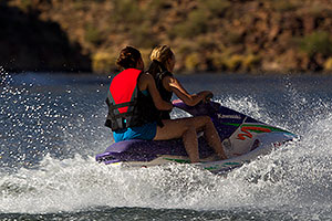 Jetski at Canyon Lake in Superstitions