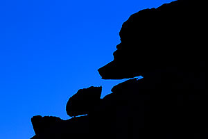 Bear silhouette along Havasupai Trail
