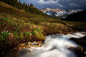 Rushing river at Loveland Pass