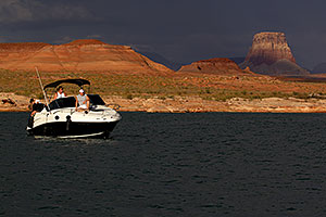 Sundancer Boat by Antelope Point at Lake Powell