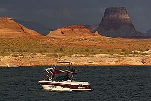 Mastercraft boat by Antelope Point at Lake Powell