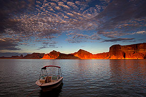 Cobalt in morning light by Gunsight Butte at Lake Powell