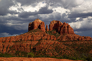 Monsoon clouds in Sedona