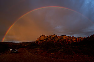 Rainbow over Schnebly Hill Road in Sedona