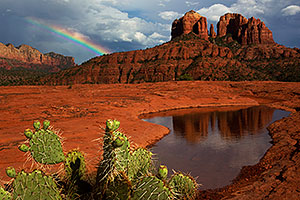 Rainbow by Cathedral Rock in Sedona