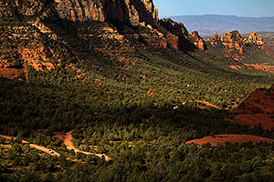 Jeep Wrangler on Schnebly Hill Road in Sedona