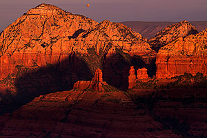 Balloon over Red Rocks at Schnebly Hill Road in Sedona