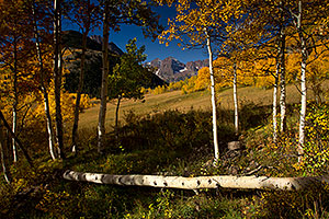 Morning Fall Colors in Maroon Bells, Colorado