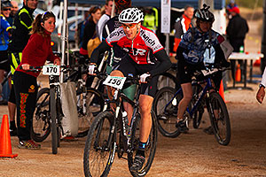 07:06:59 #156 at the end of the lap of Mountain Biking at Trek Bicycles 12 and 24 Hours of Fury …