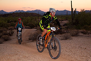 07:28:03 #76 and #24 at the end of the lap of Mountain Biking at Trek Bicycles 12 and 24 Hours of Fury …