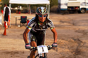 06:25:05 #1 Tinker Juarez at Start of Lap of Mountain Biking at Trek Bicycles 12 and 24 Hours of Fury …