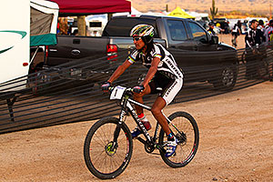 07:09:41 #1 Tinker Juarez at Start of Lap of Mountain Biking at Trek Bicycles 12 and 24 Hours of Fury …