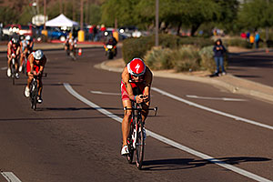 02:26:11 - #1 Jordan Rapp (2009 winner here) at start of Lap 2 - Ironman Arizona 2011