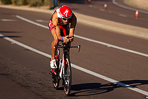 02:26:12 - #1 Jordan Rapp (2009 winner here) at start of Lap 2 (8 minutes behind the leaders) - Ironman Arizona 2011