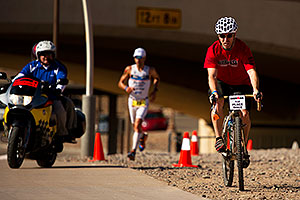 05:50:47 - #23 Eneko Llanos [SPA] (leader, eventual winner in 07:59:38) in  Lap 1 - Ironman Arizona 2011