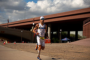 05:50:53 - #23 Eneko Llanos [SPA] (leader, eventual winner in 07:59:38) in  Lap 1 - Ironman Arizona 2011