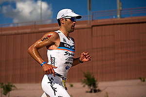 05:50:54 - #23 Eneko Llanos [SPA] (leader, eventual winner in 07:59:38) in  Lap 1 - Ironman Arizona 2011