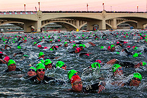 00:05:52 - Early in the swim - Ironman Arizona 2011