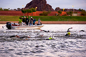 00:02:25 - Pros early in the swim - Ironman Arizona 2011