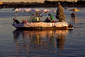 Boat #30 before APS Fantasy of Lights Boat Parade