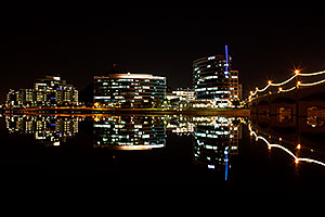 Tempe Town Lake night reflections