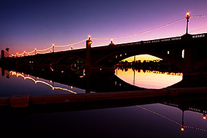 Tempe Town Lake twilight reflections