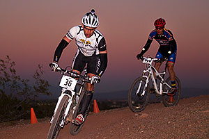 10:37:10 #36 [2nd single-speed, 4th overall, 19 laps, 11:45:10] biking at night at 12 Hours of Papago 2012 …