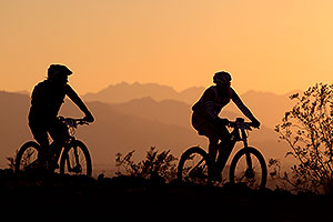 10:08:09 #411 and #241 mountain biking at sunset at 12 Hours of Papago 2012 …