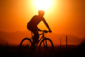 10:11:17 #217 mountain biking at sunset at 12 Hours of Papago 2012 …
