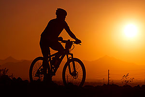 10:15:53 #202 mountain biking at sunset at 12 Hours of Papago 2012 …