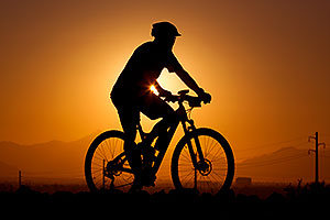 10:15:56 #423 mountain biking at sunset at 12 Hours of Papago 2012 …