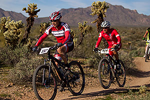 Mountain bikers at McDowell Meltdown MBAA 2012 …