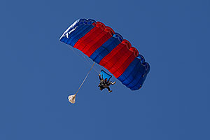 Skydivers at Balloon Fest in Lake Havasu City, Arizona