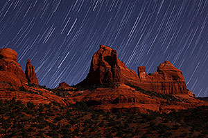 20 minutes of star trails at Schnebly Hill in Sedona, Arizona