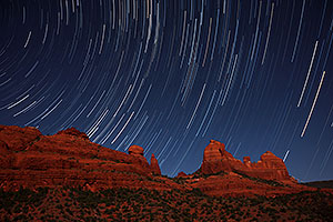 50 minutes of star trails at Schnebly Hill in Sedona, Arizona