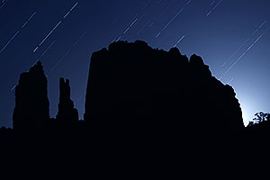 Star trails at Cathedral Rock in Sedona
