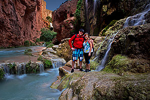 People near Mooney Falls