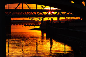 Sunset at Tempe Town Lake