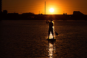 Stand up paddler at Tempe Town Lake