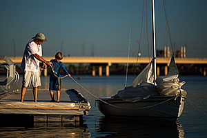 Sailboat at Tempe Town Lake