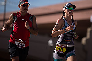 08:04:45 - #84 Charisa Wernick [USA, 9th] and #2444 running at Ironman Arizona 2012